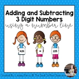 Adding and Subtracting 3 Digit Numbers Using Number Lines