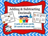 Adding and Subtracting 3 Digit Numbers with Decimals--Sports Theme