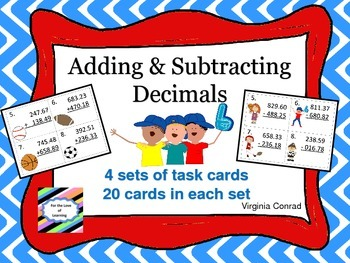 Adding and Subtracting 3 Digit Numbers with Decimals--Spor