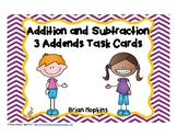 Adding and Subtracting 3 Numbers Task Cards