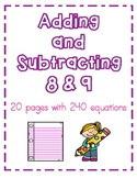 Adding and Subtracting 8 & 9