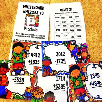 Adding and Subtracting Back to School Game