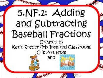 Adding and Subtracting Baseball Fractions and Mixed Numbers