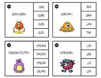 Adding and Subtracting Clip Cards