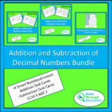 Adding and Subtracting Decimal Numbers Bundle