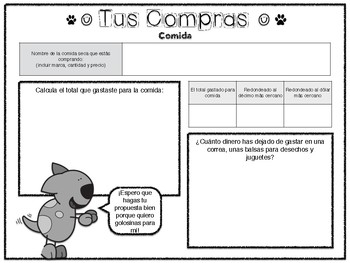 Adding and Subtracting Decimal Project in Spanish
