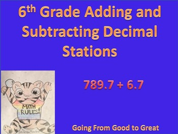 Adding and Subtracting Decimal Stations