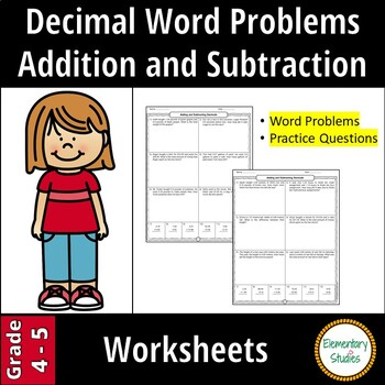 Adding and Subtracting Decimal Word Problems