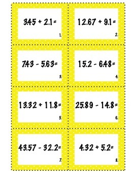 Adding and Subtracting Decimals: Common Core Aligned