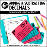 Adding and Subtracting Decimals: Scavenger Hunt
