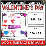 Valentine's Day Adding and Subtracting Decimals Game