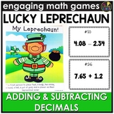 Saint Patrick's Day Adding and Subtracting Decimals Game