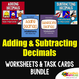 Adding And Subtracting Decimals Color By Number Code, Mystery Picture Activity