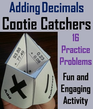 Adding and Subtracting Decimals Practice Game 4th 5th 6th Grade
