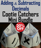 Adding and Subtracting Decimals Practice Games Bundle for 4th 5th 6th Grade