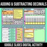 Adding and Subtracting Decimals Activity   Digital Google Slides