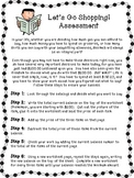 Adding and Subtracting Decimals Assessment *Take a Shopping Trip*