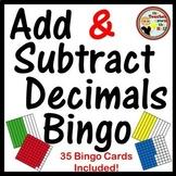 Decimals - Adding and Subtracting Decimals Bingo (w/ 35 Bi