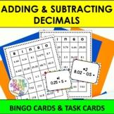 Adding and Subtracting Decimals Bingo