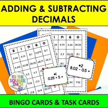 Adding and Subtracting Decimals Bingo