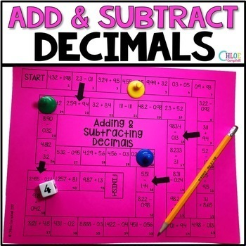 Adding and Subtracting Decimals Board Games