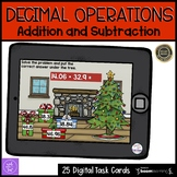 Adding and Subtracting Decimals Boom Cards Holiday Themed
