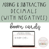 Adding and Subtracting Decimals Boom Cards (with negatives)
