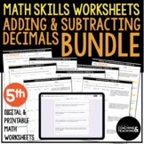 Adding and Subtracting Decimals Bundle