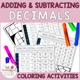 Adding and Subtracting Decimals Coloring Activity