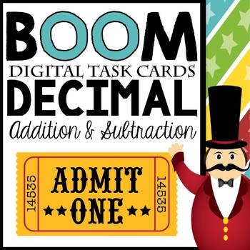 Adding and Subtracting Decimals Digital BOOM! Interactive Task Card Set