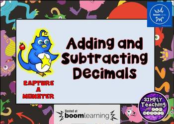 Adding and Subtracting Decimals Digital Boom Cards