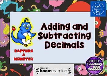 Adding and Subtracting Decimals Digital Boom Cards Eureka Math Grade 5 unit 1