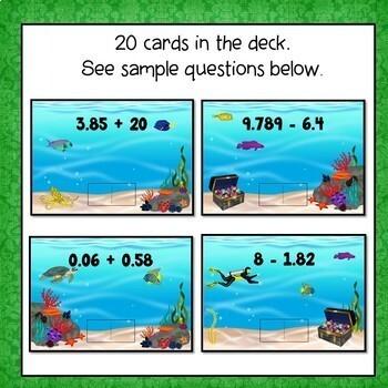 Adding and Subtracting Decimals  Digital Interactive Boom Cards