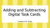 Adding and Subtracting Decimals Digital Task Cards