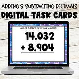 Adding and Subtracting Decimals Digital Task Cards Google Slides