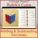 Adding and Subtracting Decimals   Distance Learning   Rubik's Cube