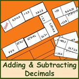 Adding and Subtracting Decimals (Dominoes)