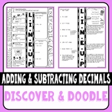 Adding and Subtracting Decimals Doodle Notes