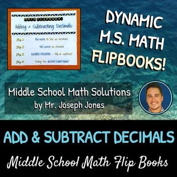 Adding and Subtracting Decimals Flip Book