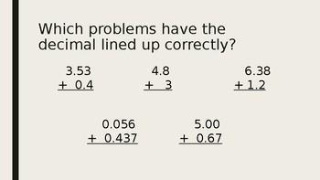Adding and Subtracting Decimals - Full Lesson Plan