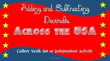 Adding and Subtracting Decimals Gallery Walk