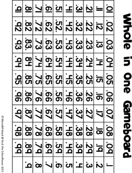 Adding and Subtracting Decimals Games