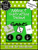 Adding and Subtracting Decimals Games