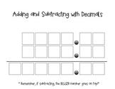 Adding and Subtracting Decimals Graphic Organizer