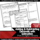 Adding and Subtracting Decimals Guided Cornell Notes | Pri