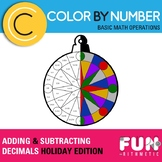 Adding and Subtracting Decimals Holiday Color by Number