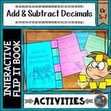 Adding and Subtracting Decimals Interactive Flip It Book