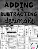 Adding and Subtracting Decimals [Interactive Notebook]