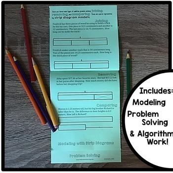 Adding and Subtracting Decimals Interactive Notebook Set