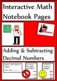 Adding and Subtracting Decimals Lesson for Interactive Math Notebooks